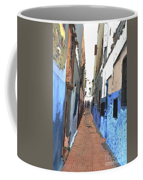 Urban Coffee Mug featuring the photograph Urban Scene by Hana Shalom