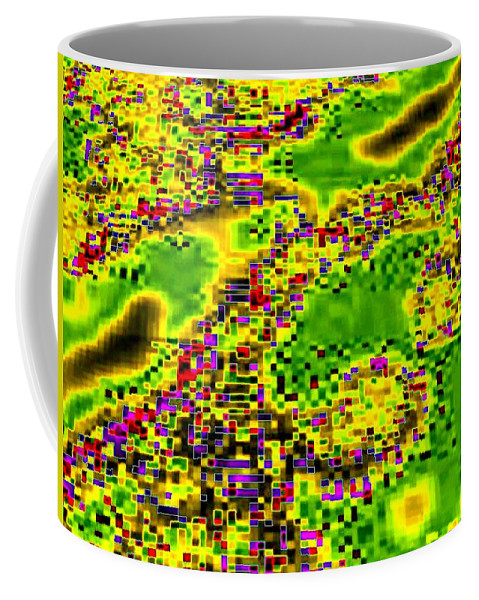 Urban Sprawl Coffee Mug featuring the digital art Urban Sprawl by Will Borden