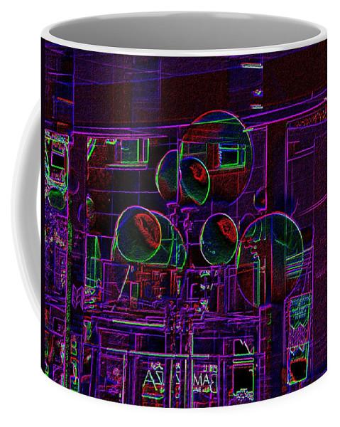 Street Coffee Mug featuring the digital art Urban Street Scene by Tim Allen