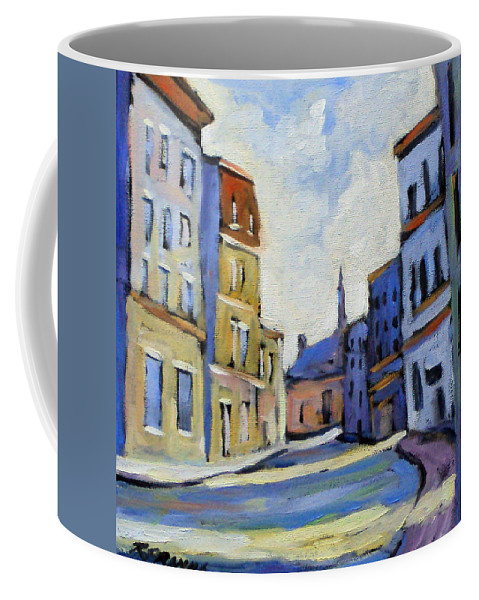 Town Coffee Mug featuring the painting Urban Streets by Richard T Pranke
