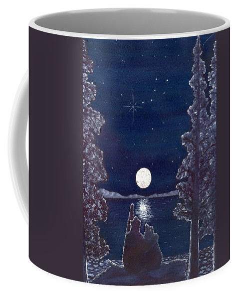 Bear Coffee Mug featuring the painting Ursa Minor by Catherine G McElroy