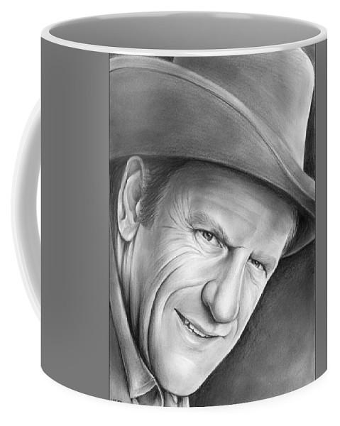 Celebrities Coffee Mug featuring the drawing Gunsmoke's Matt Dillon by Greg Joens