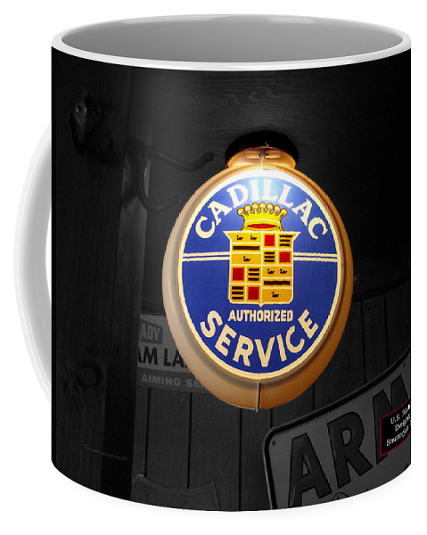 Route 66 Coffee Mug featuring the photograph Us Route 66 Cadillac Service Globe Sc by Thomas Woolworth