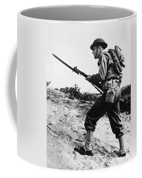 1940s Coffee Mug featuring the photograph U.s World War II Infantry, 1942 by H. Armstrong Roberts/ClassicStock