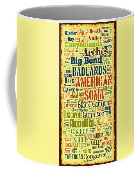 National Coffee Mug featuring the photograph USA National Parks by David G Paul