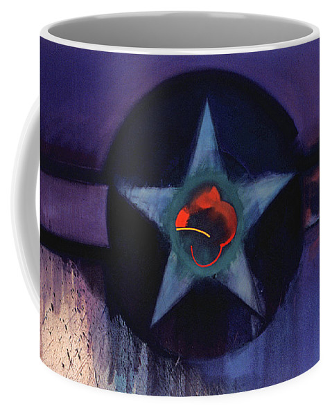 Usaaf Insignia Coffee Mug featuring the painting USAAF Lilac by Charles Stuart