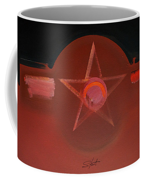 Usaaf Coffee Mug featuring the painting USAAF Vermillion by Charles Stuart