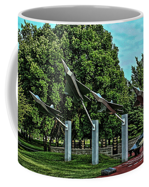 Usaf Coffee Mug featuring the photograph Usaf Museum Memorial Garden by Tommy Anderson