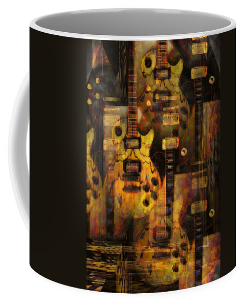 Guitar Coffee Mug featuring the photograph Use You Illusion by Bill Cannon