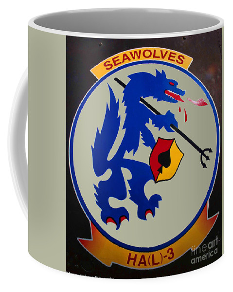 Usn Seawolves Coffee Mug featuring the photograph Usn Seawolves Logo by Tommy Anderson