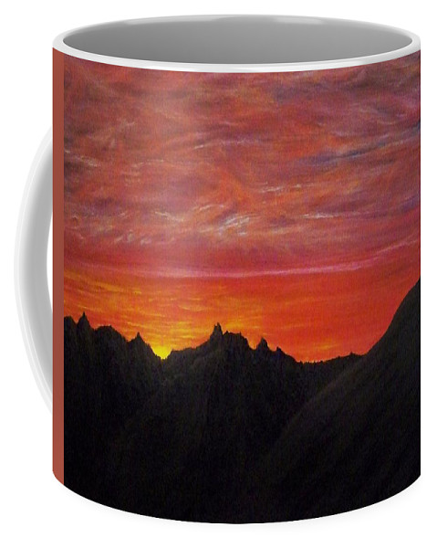 Sunset Coffee Mug featuring the painting Utah Sunset by Michael Cuozzo