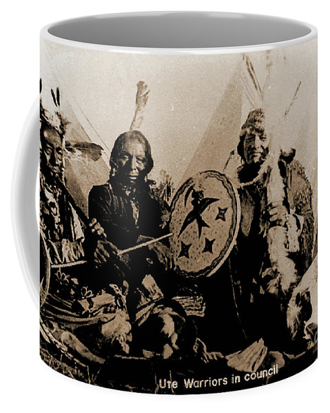 Ute Coffee Mug featuring the photograph Ute Tribe In Council by Gary Wonning