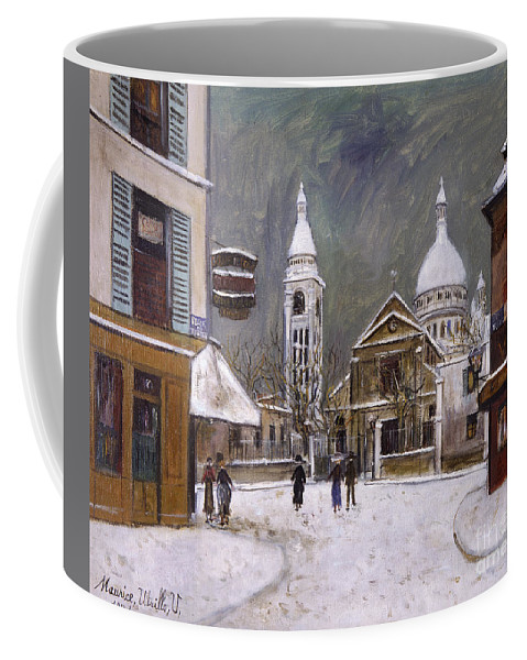 1931 Coffee Mug featuring the photograph Utrillo: Montmartre, 1931 by Granger