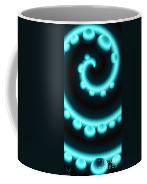 Colorful Coffee Mug featuring the digital art V Continuum In Blue by Dale Crum