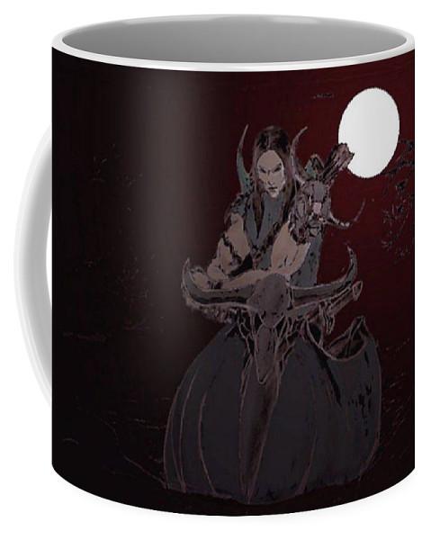 Fantasy Art Coffee Mug featuring the digital art Vacate by Taylan Fidan