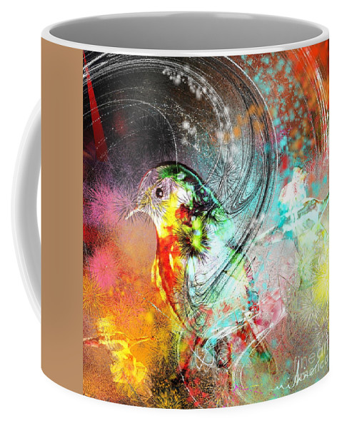Bird Coffee Mug featuring the painting Vagabond by Miki De Goodaboom