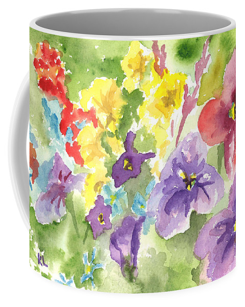 Flower Pictures Coffee Mug featuring the painting Vail Flowers by Kimberly Lavelle