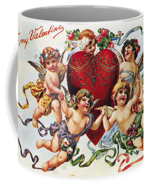 1900 Coffee Mug featuring the photograph Valentines Day Card by Granger