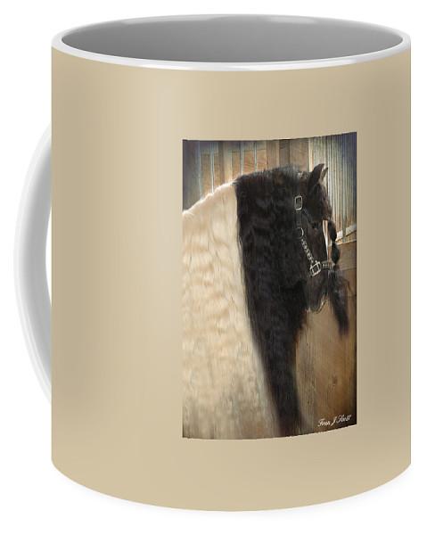 Horse Photographs Coffee Mug featuring the photograph Valentino's Mane by Fran J Scott