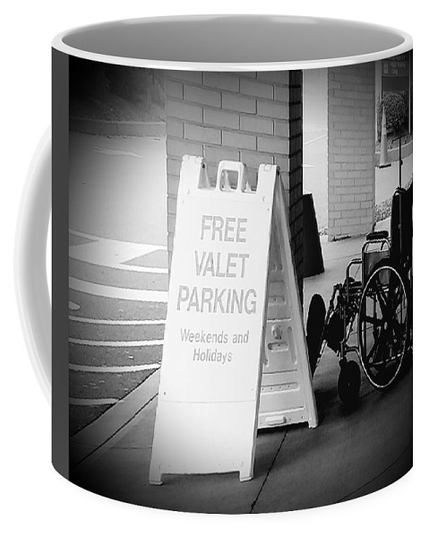 Valet Coffee Mug featuring the digital art Valet Parking by Katie Irwin Flather