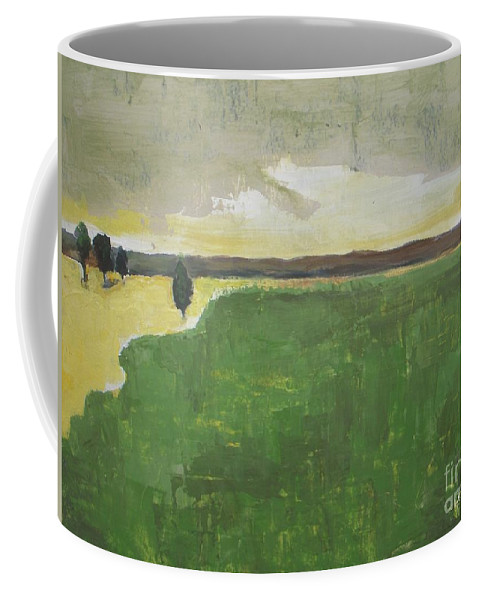 Landscape Coffee Mug featuring the painting Valley Carpet by Valley Carpet