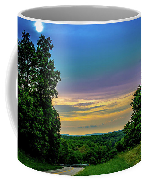 Green Coffee Mug featuring the photograph Valley Forge Views by Howard Roberts