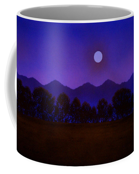 Night Coffee Mug featuring the painting Valley Light by Frank Wilson