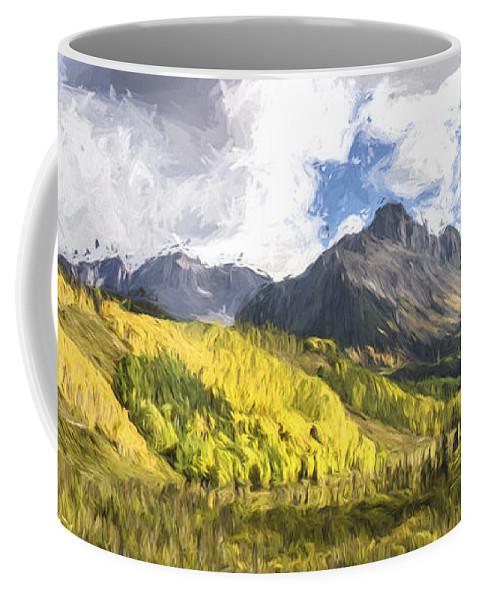 Art Coffee Mug featuring the digital art Valley Of Autumn II by Jon Glaser