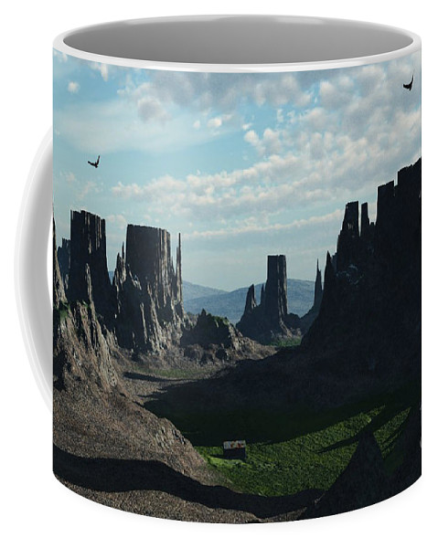 Valley Coffee Mug featuring the digital art Valley Of The Kings by Richard Rizzo