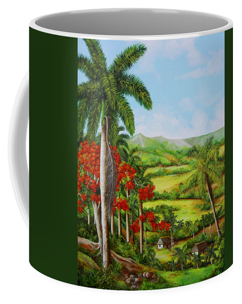 Palms Coffee Mug featuring the painting Yumuri Valley by Dominica Alcantara