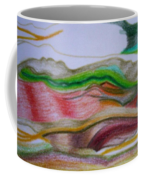 Abstract Coffee Mug featuring the painting Valley Stream by Suzanne Udell Levinger