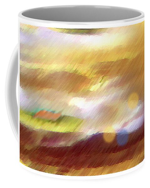 Landscape Coffee Mug featuring the painting Valleylights by Anil Nene