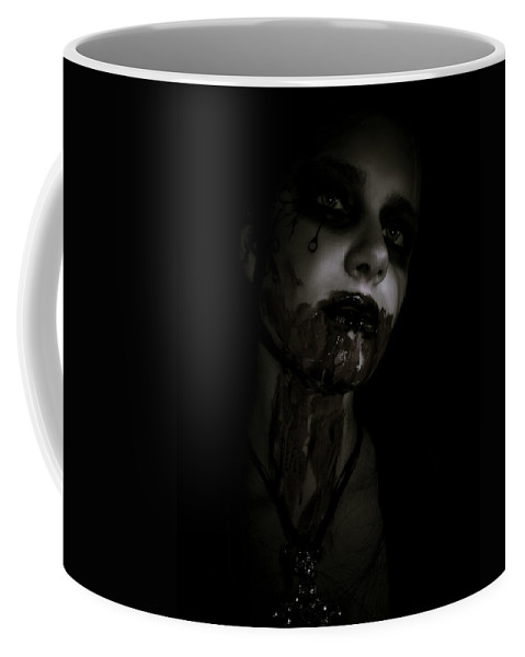Vampire Coffee Mug featuring the photograph Vampire Feed 2 by Kelly Jade King