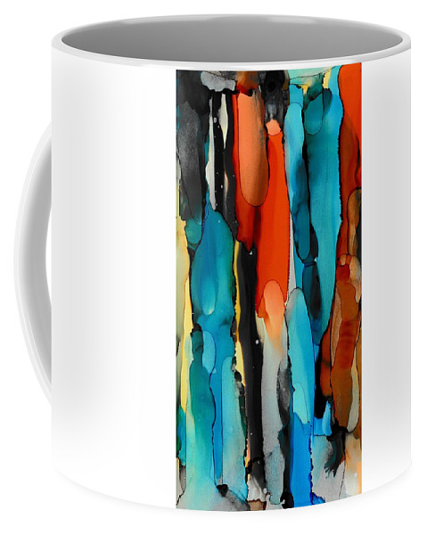 Abstract Coffee Mug featuring the painting Van Gogh Drips by Louise Adams