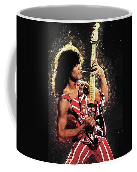 Eddie Van Halen Coffee Mug featuring the digital art Van Halen by Zapista OU