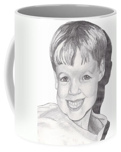 Boy Coffee Mug featuring the drawing Van Winkle Boy by Jean Haynes