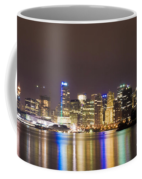 Vancouver Coffee Mug featuring the photograph Vancouver Lights by Louise Magno