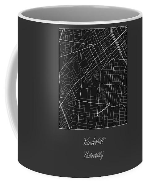 Vanderbilt Street Map - Vanderbilt University Nashville Map Coffee Mug