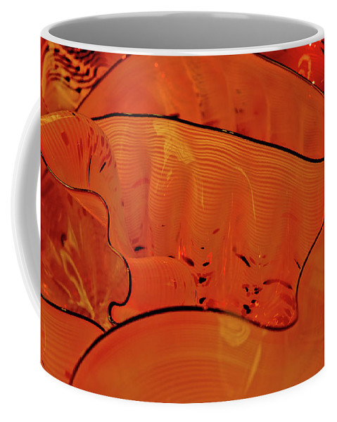 Various Orange Swirls Brown Accents Shiny Coffee Mug featuring the photograph Various Orange Swirls Brown Accents Shiny 2 9132017 by David Frederick