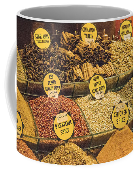 Spice Bazaar Coffee Mug featuring the photograph Various Spices by Bob Phillips
