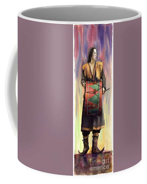 Watercolor Coffee Mug featuring the painting Varius Coloribus Abul by Yuriy Shevchuk