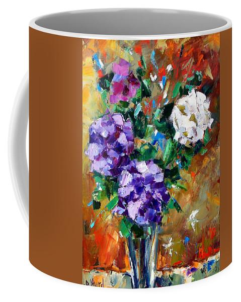 Flowers Coffee Mug featuring the painting Vase Of Color by Debra Hurd