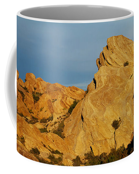 Photography Coffee Mug featuring the photograph Vasquez Rocks State Park, Sunset by Panoramic Images