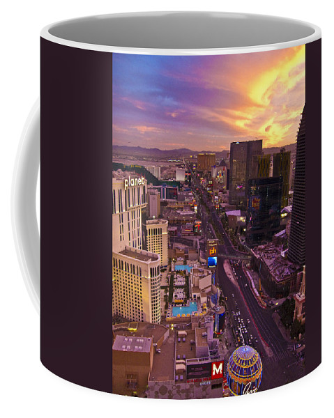 Sunset Coffee Mug featuring the photograph Vegas Sunset by Ches Black