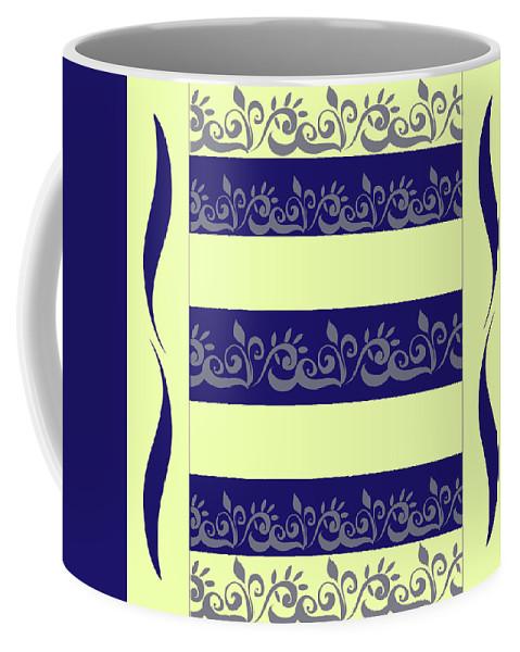 Strips Coffee Mug featuring the digital art Vegetable Pattern by Monika Lemeshonok
