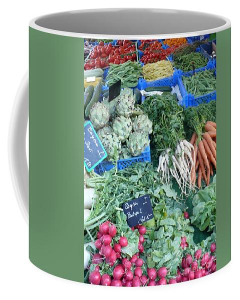 European Markets Coffee Mug featuring the photograph Vegetables At German Market by Carol Groenen