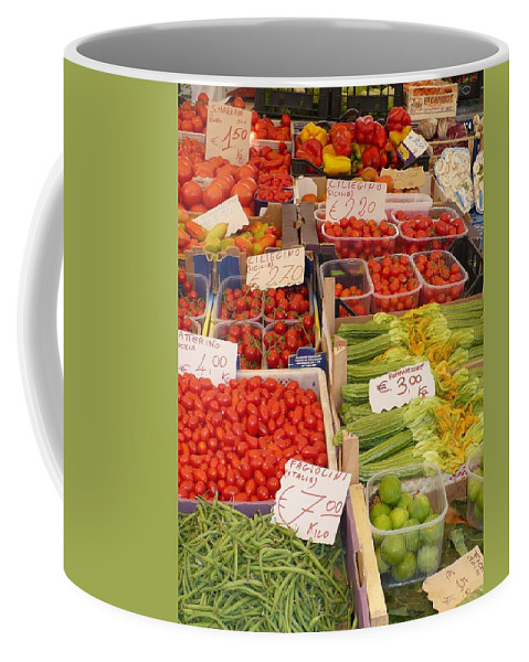 European Markets Coffee Mug featuring the photograph Vegetables At Italian Market by Carol Groenen