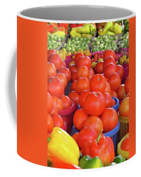 Tomato Coffee Mug featuring the photograph Veggies by J Havnen