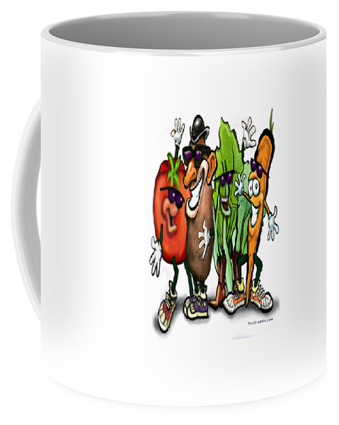 Vegetable Coffee Mug featuring the digital art Veggies by Kevin Middleton