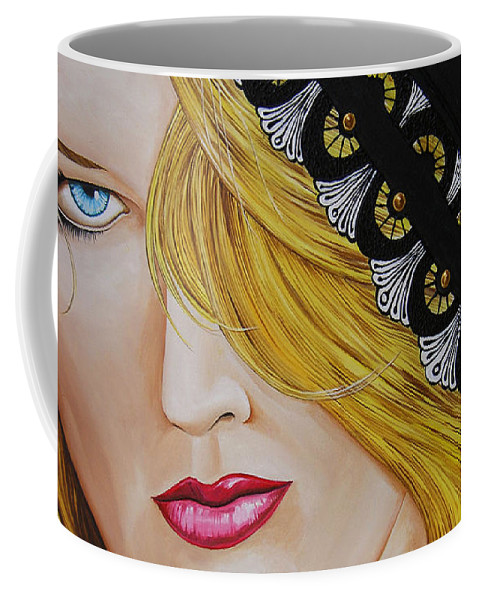Woman Coffee Mug featuring the painting Veiled Woman by Juan Alcantara